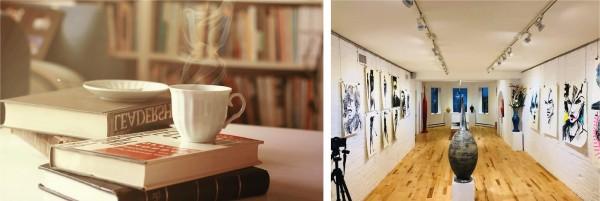 Evénements café littéraire, vernissage, exposition